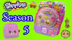 Season 5 Shopkins Pack with Petkins Backpack Surprise Blind Bag + Charmb...