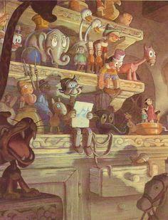 Gustav Tenggren - Pinocchio concept art