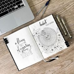 HABBITWHEEL || My new habit tracker for the month November. I love the habit wheel with the floral design. A inspirational quote next to it and this is a perfectly well looking page! ~ ~ ~ ~ ~ #bulletjournal #bulletjournalnewbie #bulletjournallove #bulletjournalcommunity #bujo #bujobeauty #showmeyourplanner #quote #handlettering #handlettering #fall #leaves #drawing #micronpen #bulletjournalss #floral #modernfloral #modernflorals101 #handdrawn #minimalistbujo #bulletjournaljunkies…