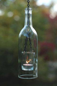Luminaria feita de Garrafa de vidro