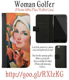 Woman Golfer - iPhone 6/6s Plus Wallet Case. One for the woman golfer. Makes a…