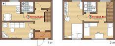 П21з Планировка садового дома 8х6