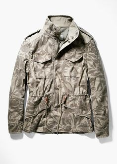 Camo print field jacket - Outerwear  for Men | MANGO