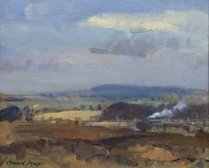 Edward Seago | Landscape With A Locomotive