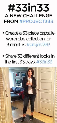 33 in 33: A minimalist fashion challenge from #project333 #33in33