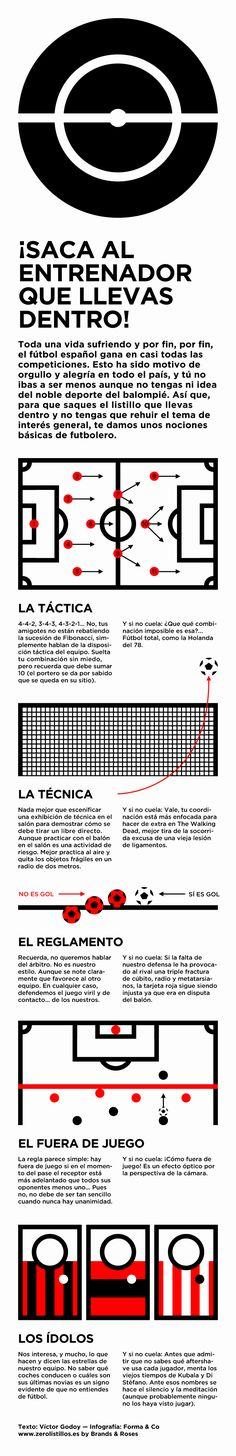 Infografía - nociones básicas de futbolero por Víctor Godoy — Forma&Co