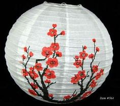 """16"""" Cherry Blossom Paper Lantern 10 Lot Chinese Japanese Party Home Décor Gift"""