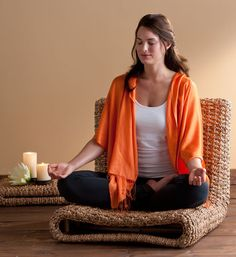 What a great Meditation Chair! The Water Hyacinth Meditation Chair by Gaiam.
