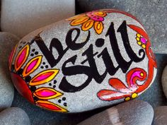 Be Still / Painted Rock / Sandi Pike Foundas / by LoveFromCapeCod, $29.00