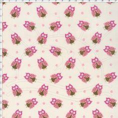 Tecido Estampado para Patchwork - Corujas Rococo (0,50x1,40) no Bazar Horizonte