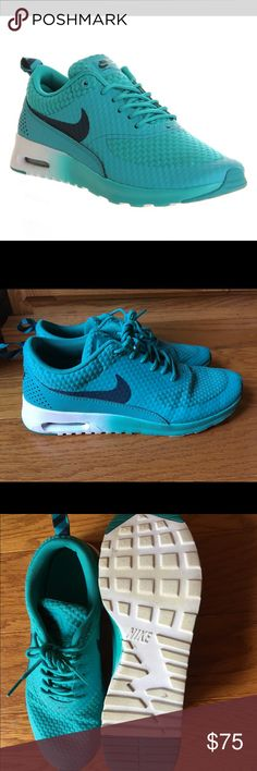 Nike Air Max Thea in Turbo Green Beautiful Nike Air Max Theas in turbo green. Worn a few times. Minor scuffing on the bottoms as shown in photos  Buy with confidence! ✔️ Top rated seller ✔️ Fast shipper (1 day) ✔️ Top 10% seller ✔️ Top 10% sharer ✔️ Posh Mentor Nike Shoes Athletic Shoes