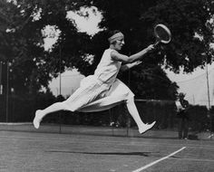 France. The corsetless 'French Hussy' Suzanne Lenglen in 1924.