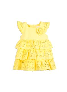 Baby Girls + Accessories Tiered Broderie Dress Snap Dragon dresses