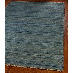 Hand-knotted All-Natural Oceans Blue Hemp Rug (4' x 6') | Overstock.com Shopping - Great Deals on Safavieh 3x5 - 4x6 Rugs