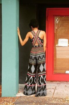 A jumpsuit with a fun print and interesting back detail. Amapa Jumpsuit by Elevenses