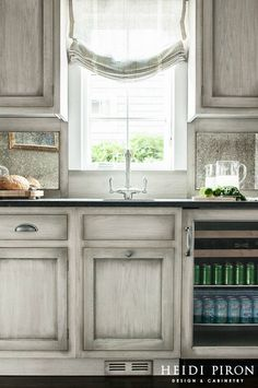 Gray stained (washed) Hickory Cabinets | House | Pinterest ...