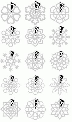 How to cut paper snowflakes/ como cortar copos de nieve de papel More