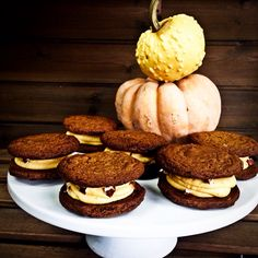 pumpkin creamsand cookie