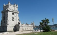 The Belem Tower - Belem, Portugal;  built in 1515 as a fortress to guard the entrance to Lisbon's harbor, the Belem Tower was the starting point for many of the voyages of discovery;  it often serves as a symbol of the country
