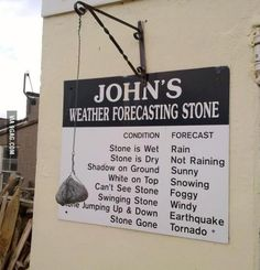 100% accurate weather forecasting stone