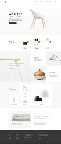 Chameleon-Shop-PSD-Template Good Website Design, Website Design Minimalist, Good Design, Clean Web Design, Simple Web Design, Simple Website, Modern Web Design, Website Design Inspiration, Website Layout