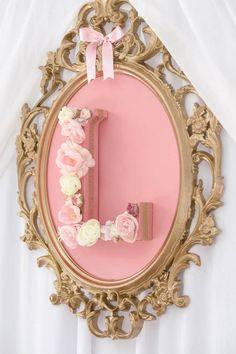 Pink & Gold Princess Party via Kara's Party Ideas Golden Birthday, Pink Birthday, Birthday Crowns, 25th Birthday, Cake Birthday, Birthday Party Decorations, Birthday Parties, Party Centerpieces, Princess Birthday Centerpieces