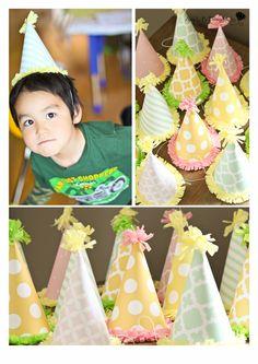 Safari Princess Birthday Party - birthday hats for everyone