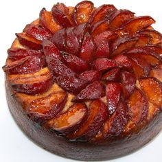 Pflaumenkuchen ~ German Plum Cake ~ a traditional German dessert, often served at Christmas