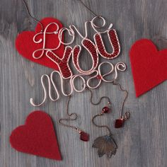 #Love #you #quote #decor ho #mobile #bo#Valentine's #gift #home #decor red by wirefoxjewellery