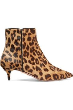 6a90715de585 Aquazzura - Quant leopard-print calf hair ankle boots. Leopard Ankle  BootsMid Heel ...