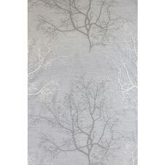 Halbtransparenter Dekostoff mit dezentem Bäume-Motiv