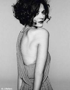 short curly bob. marion cotillard