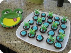 Frog Cupcakes Brownie Bites Tutorial
