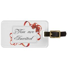 Invitation card >> You Are Invited Bag Tag - business template gifts unique customize diy personalize
