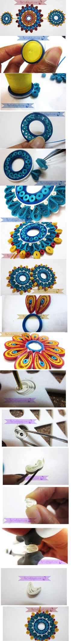 This is a good idea for dot painting ideas in paper quilling.