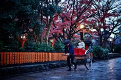 Guests at The Ritz-Carlton, Kyoto, can explore fall colors in the city with a rickshaw trip along its most beautiful streets. Before beginning a ride, the concierge can recommend their favorite routes through the city.