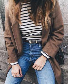 Retro Jeans, stripes