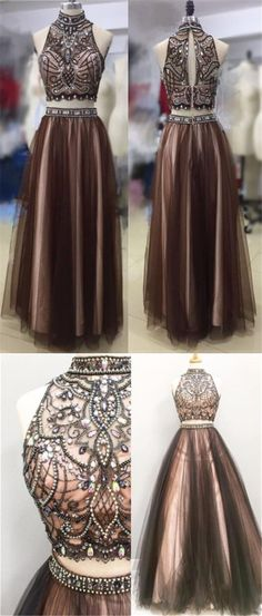 2017 Tulle Two Piece Most Popular Gorgeous Evening Prom Dress, Party gown, BD14400