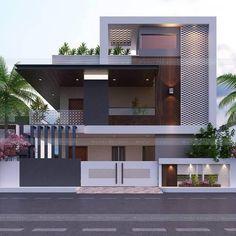 Architect Design House, House Roof Design, 2 Storey House Design, House Outside Design, House Extension Design, Home Building Design, Bungalow House Design, Facade House, Duplex Design