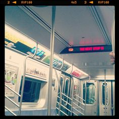 """""""This is a #coneyisland bound Q train. The next stop is... #subway #nyc #mta"""""""
