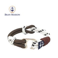 Locke Nautical Bracelet by Bran Marion Nautical Bracelet, Nautical Jewelry, Paracord, Reef Knot, Marine Rope, Everyday Look, Handmade Bracelets, Jewelry Collection, Sailor