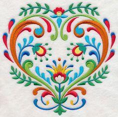 Folk Art Heart of Whimsy