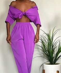 Image of Magenta Textured Play Suit (S) Edgy Outfits, Colourful Outfits, Fashion Outfits, Looks Chic, Looks Style, Fashion Beauty, Girl Fashion, Fashion Design, Fashion Details