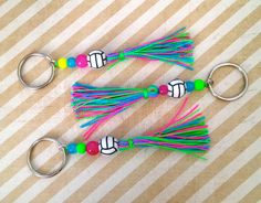 Easter gifts for volleyball team friends hhaha i am going to do volleyball beaded neon tassel keychain bag accessory by paupari 6000 negle Choice Image