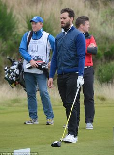 Jamie Dornan and Hugh Grant play golf at Alfred Dunhill Links Championship in Scotland | Daily Mail Online