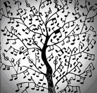 idea : have the students help build a studio music tree Music Pics, Music Images, Music Pictures, Music Stuff, Drums Logo, Home Music, Music Music, Music Bulletin Boards, Music Tree