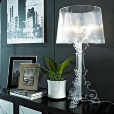 A lamp with an inimitable style, Bourgie is one of Kartell's best sellers. Buy Bourgie table lamp by Kartell online on www.design now! Table Lamp Design, Beautiful Houses Interior, Interior Design Programs, Bourgie Lamp, Interior Furniture, Lamp Decor, Home Decor, House Interior, Home Interior Design