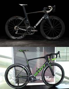 A couple of fast bikes (if you have the right motor).  Specialized Venge ViAS (above) and the 2016 Scott Foil (below)