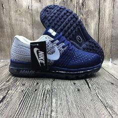 finest selection 51f37 07bf3 Hot Nike Air Max 2017 Netflix LUNARLUNCH Deep Blue Grey Sneakers Nike Air  Max 2017,