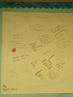 Craig Yen's students are brainstorming what it means to be not perfect.